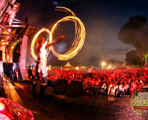 Fire Poi freestyle act at Emporium Festival- Lights in Motion